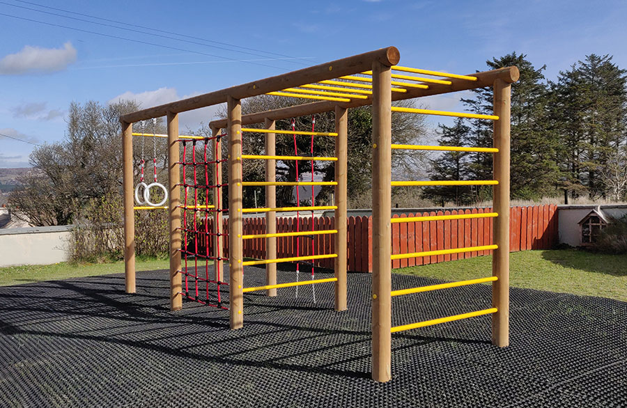 The Irish prefer the sustainable wood play equipment